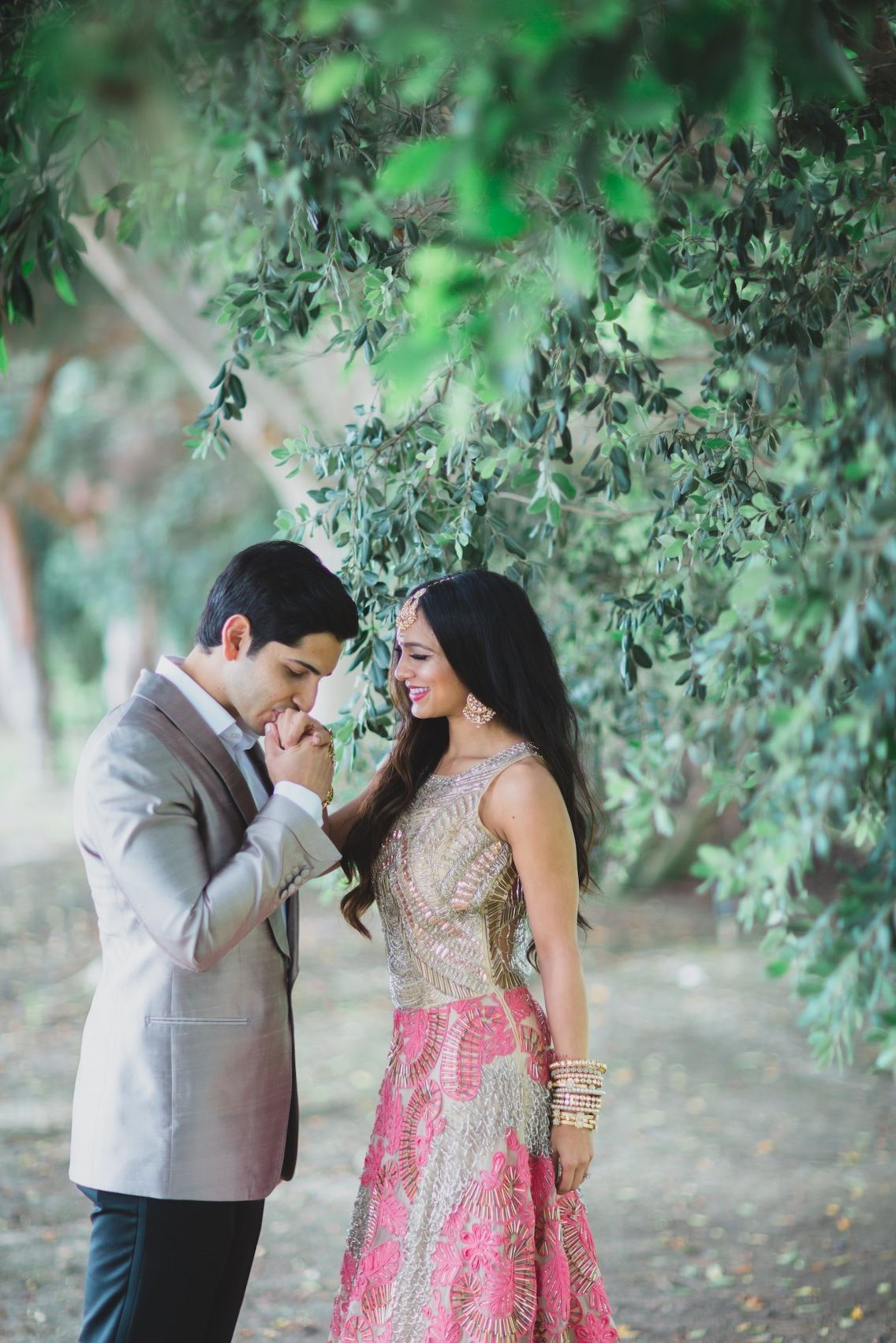 Jasmeet and anshuman wedding dress