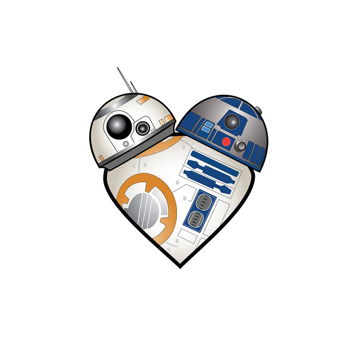 My r2 bb8 heart design is now a t shirt you can buy http tee pub - My R2 Bb8 Heart Design Is Now A T Shirt You Can Buy