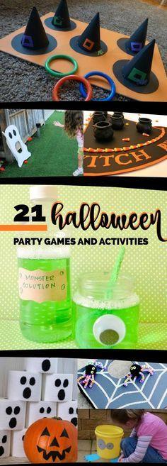 21 Halloween Party Games, Ideas  Activities via @spaceshipslb - halloween activities ideas