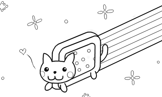 Nyan Cat Anime Coloring Page Cat Coloring Page Nyan Cat Super Coloring Pages