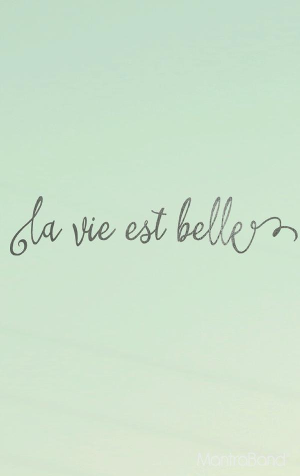 La Vie Est Belle Life Is Beautiful Mantraband Bracelets