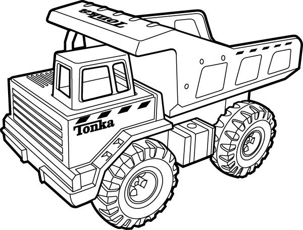 Tonka Truck Monster Truck Coloring Pages Truck Coloring Pages Tractor Coloring Pages