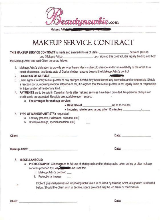 Contract Soooo Me! Pinterest Mac pro and Makeup - blank contract forms
