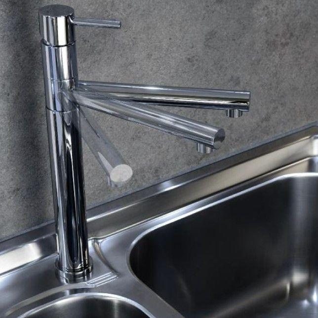 Treemme Küchenarmatur Vela | chrom | schwenkbarer Auslauf | Griff ...