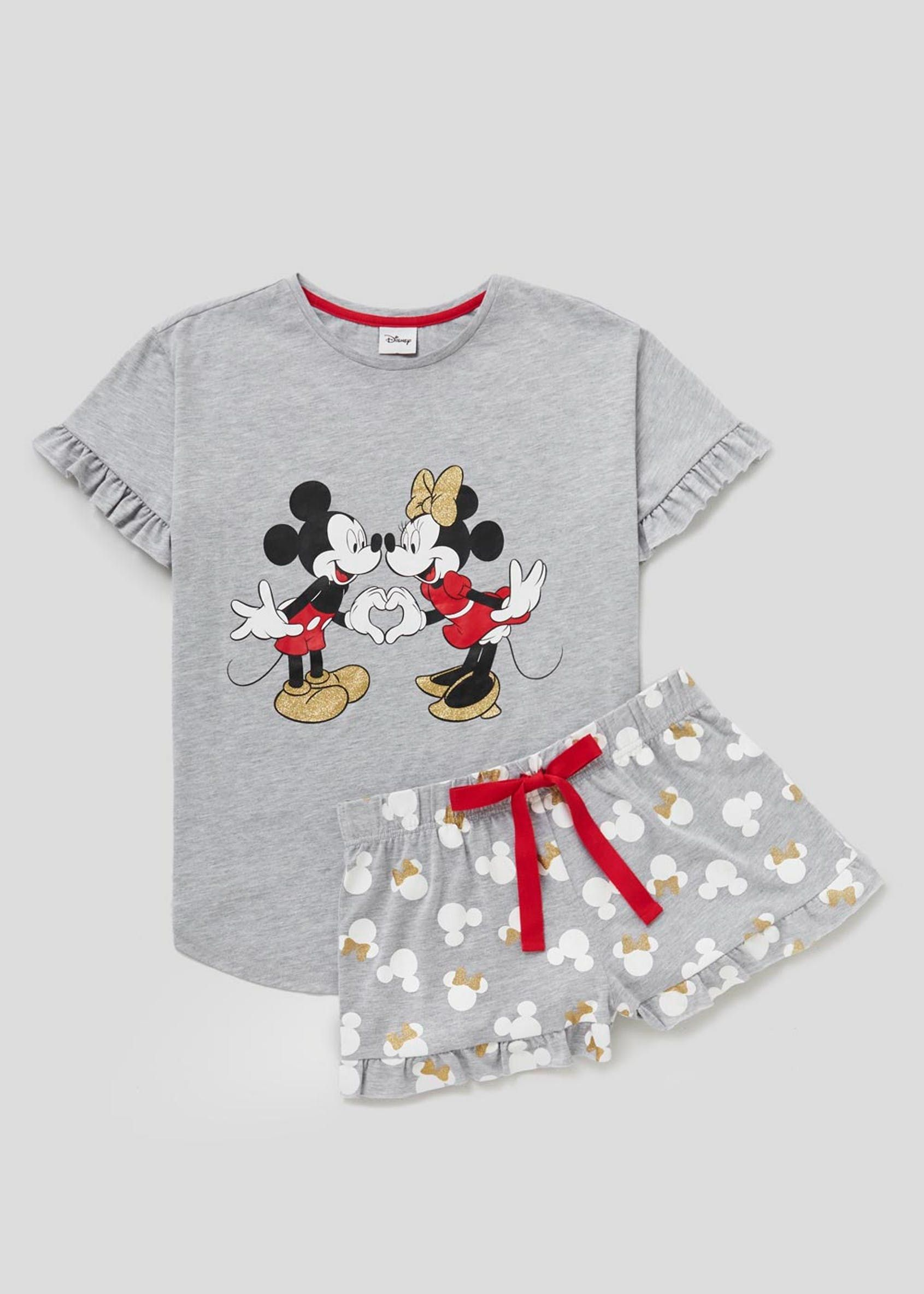 Kids Boys Girls Minnie Mickey Mouse Pajamas Pj/'s Set T-Shirt Top Shorts Outfit