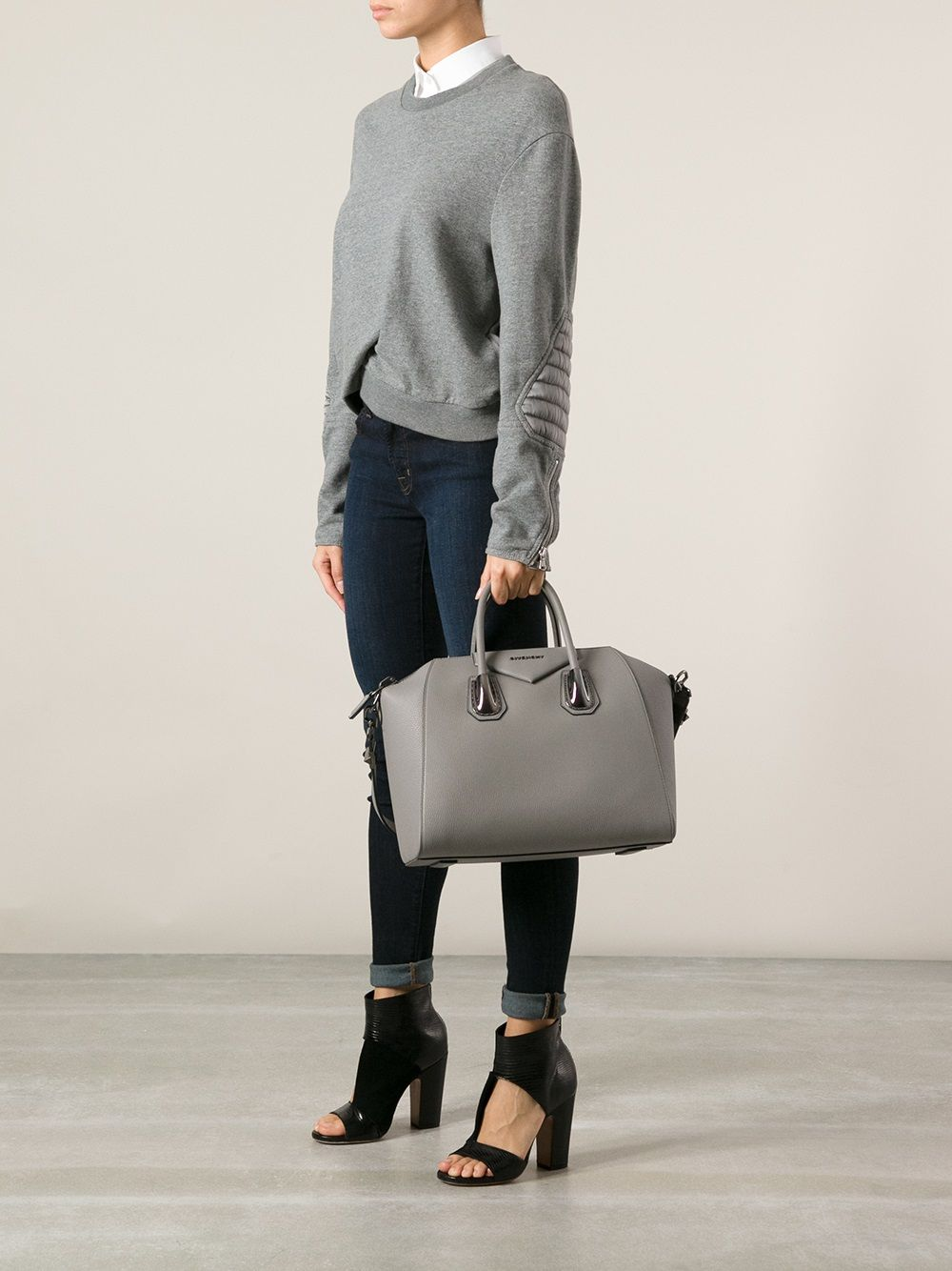 givenchy antigona medium grey -  cb1926eb66acb