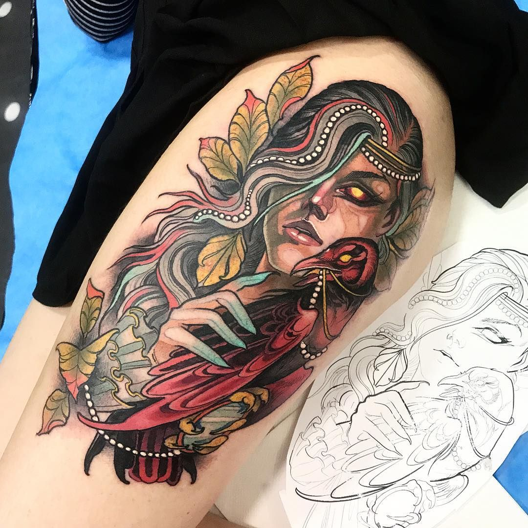 Neo traditional tattoos by isnard barbosa neo