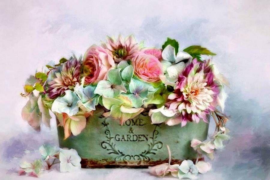 Картинки, цветы прованс открытки