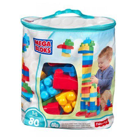 Mega Bloks Big Building Bag 80-Piece Classic Building Set - Walmart