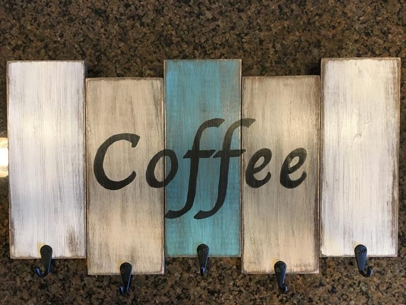 Coffee mug holder rack