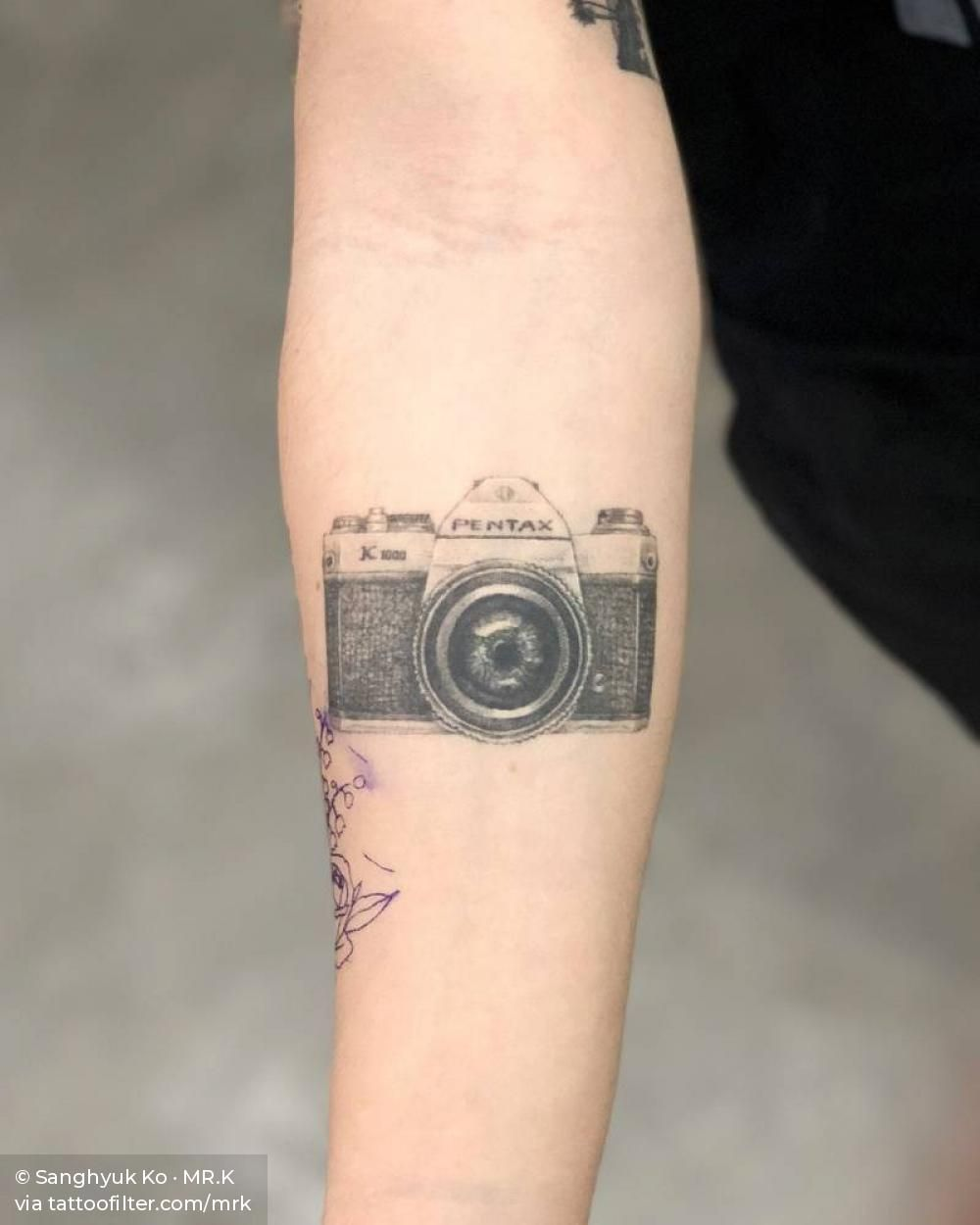 2 Years Healed Tattoos Camera Tattoos Single Needle Tattoo