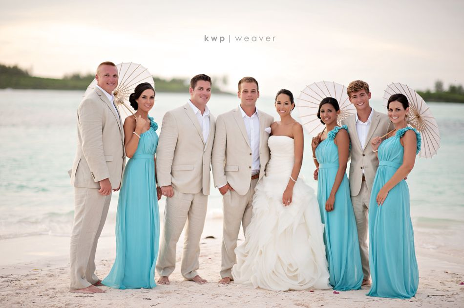 What Colours Not To Wear To A Wedding: Beach Wedding Bridal Party