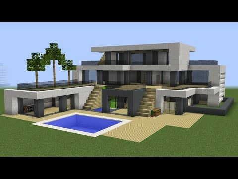 Minecraft How to build a huge modern house 3