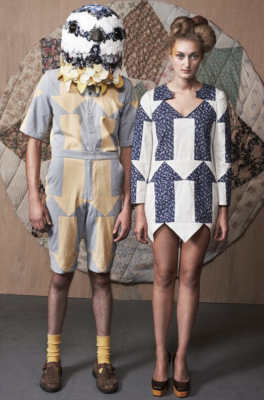 (him) Befuddled patchwork shirt, Confused patchwork shorts (her) Incessant arrow dress - from lu flux