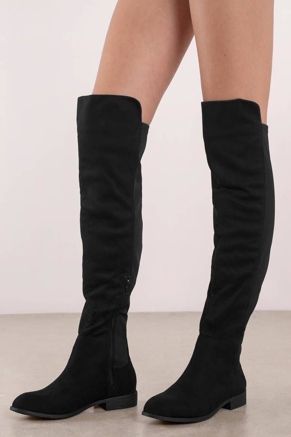 2378613461c Maddy Faux Suede Over The Knee Boots