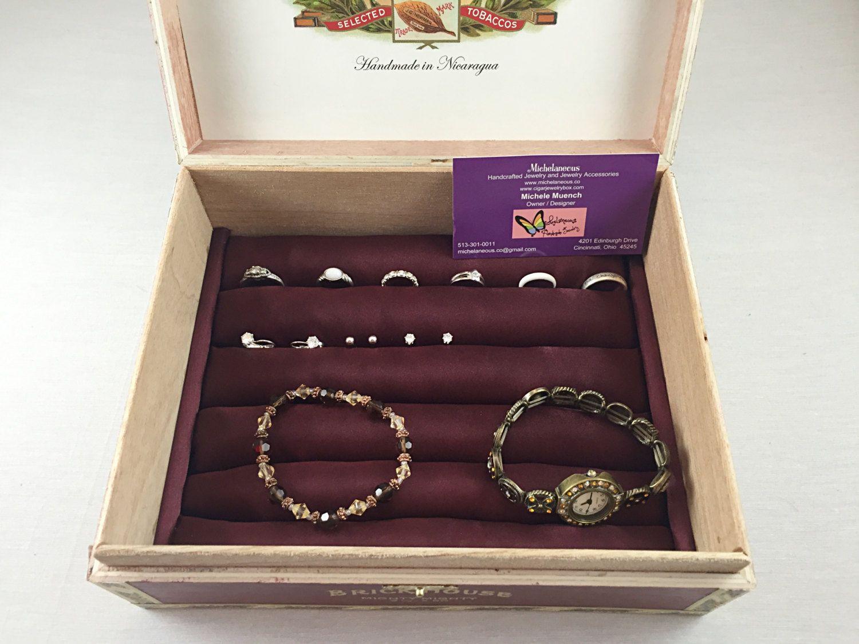 Jewelry Box Cigar Box Wooden Jewelry Box Cufflink Box Cufflinks