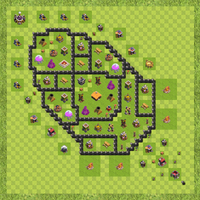 War Base Town Hall Level 8 By Jasen Hardman (BEST BASE TH 8 Layout)