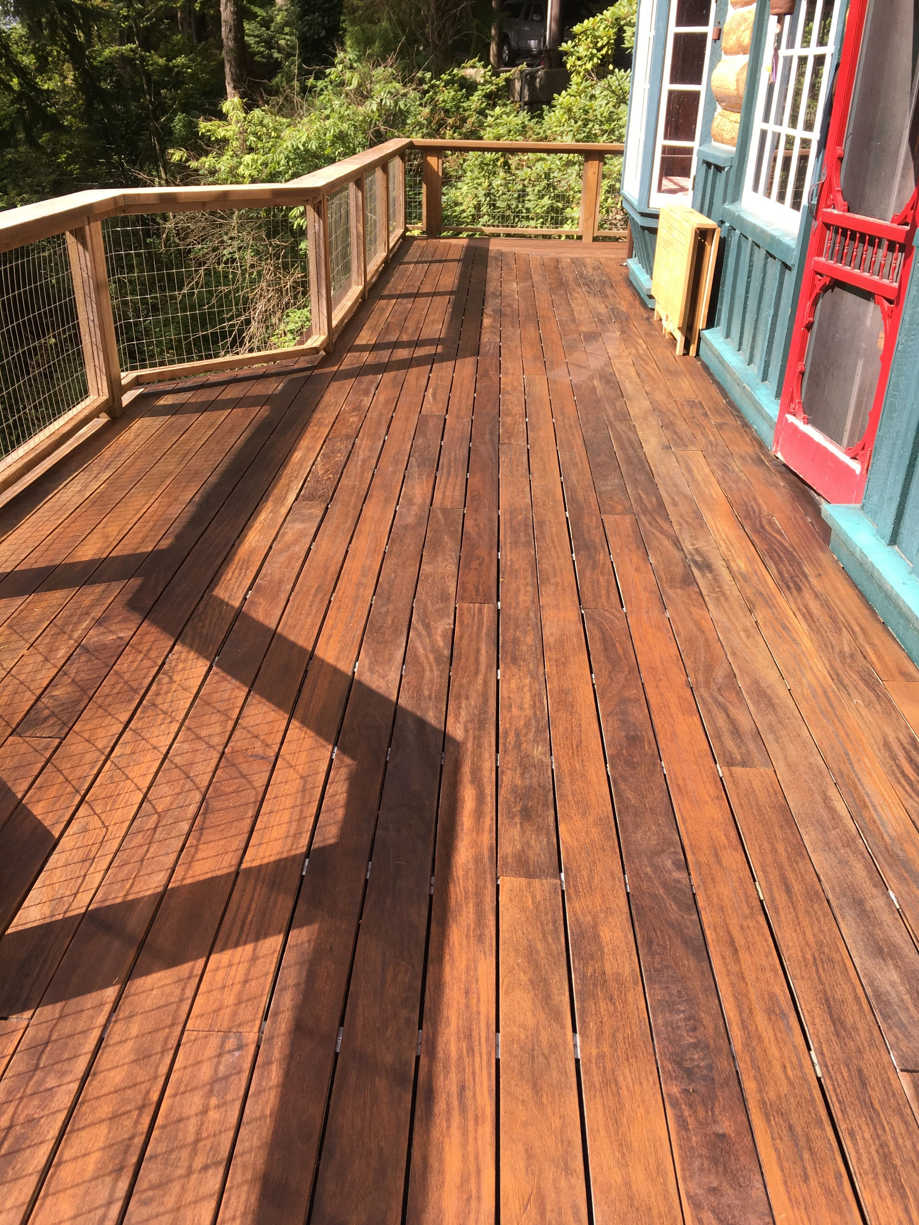 Cumaru Hardwood Deck on a Second Floor