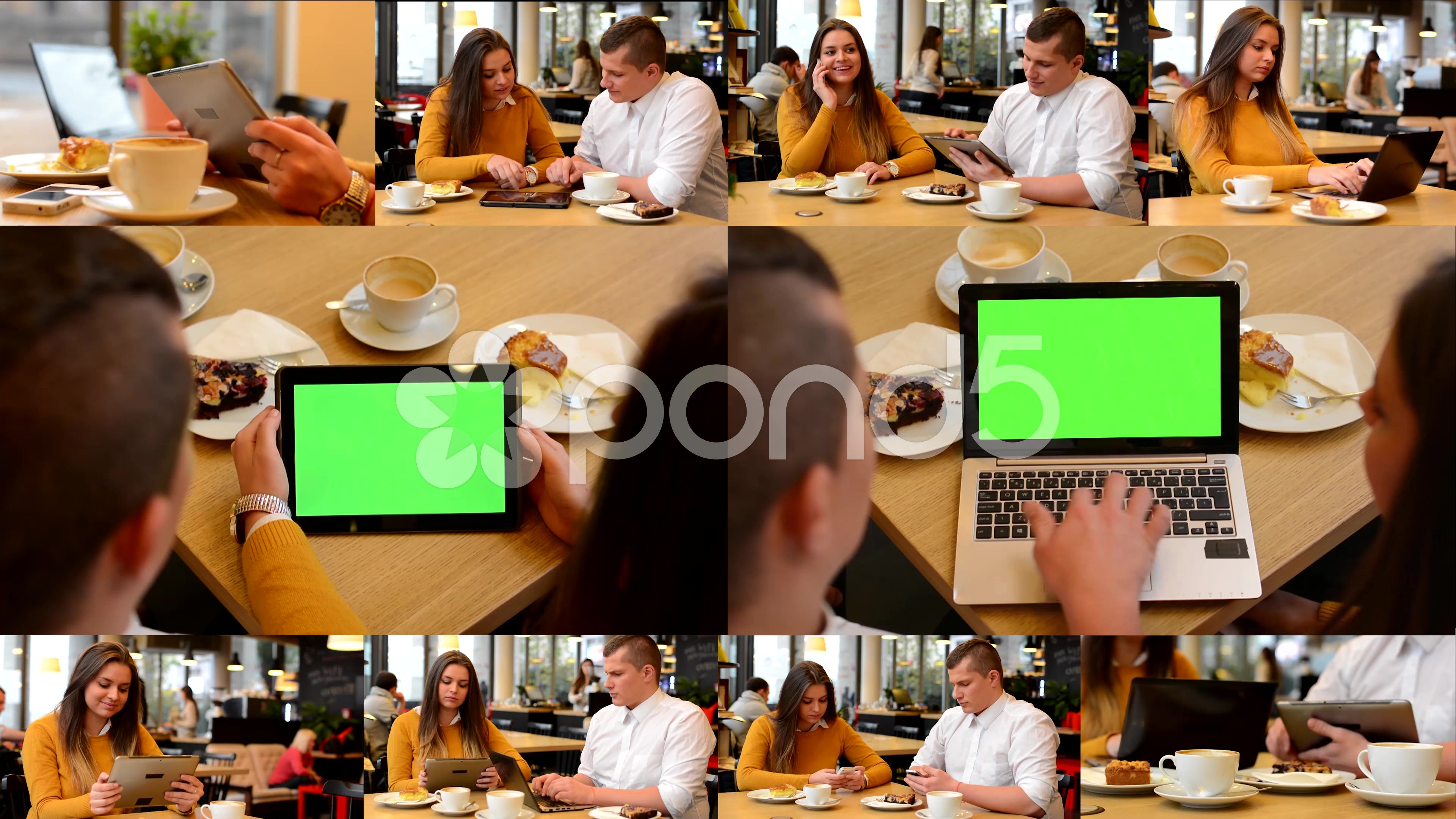4k Montage 10 Videos Couple In Cafe Notebook And Tablet Green Screen Stock Footage Ad Couple Cafe Montage Videos In 2020 Montage Video Montage Greenscreen