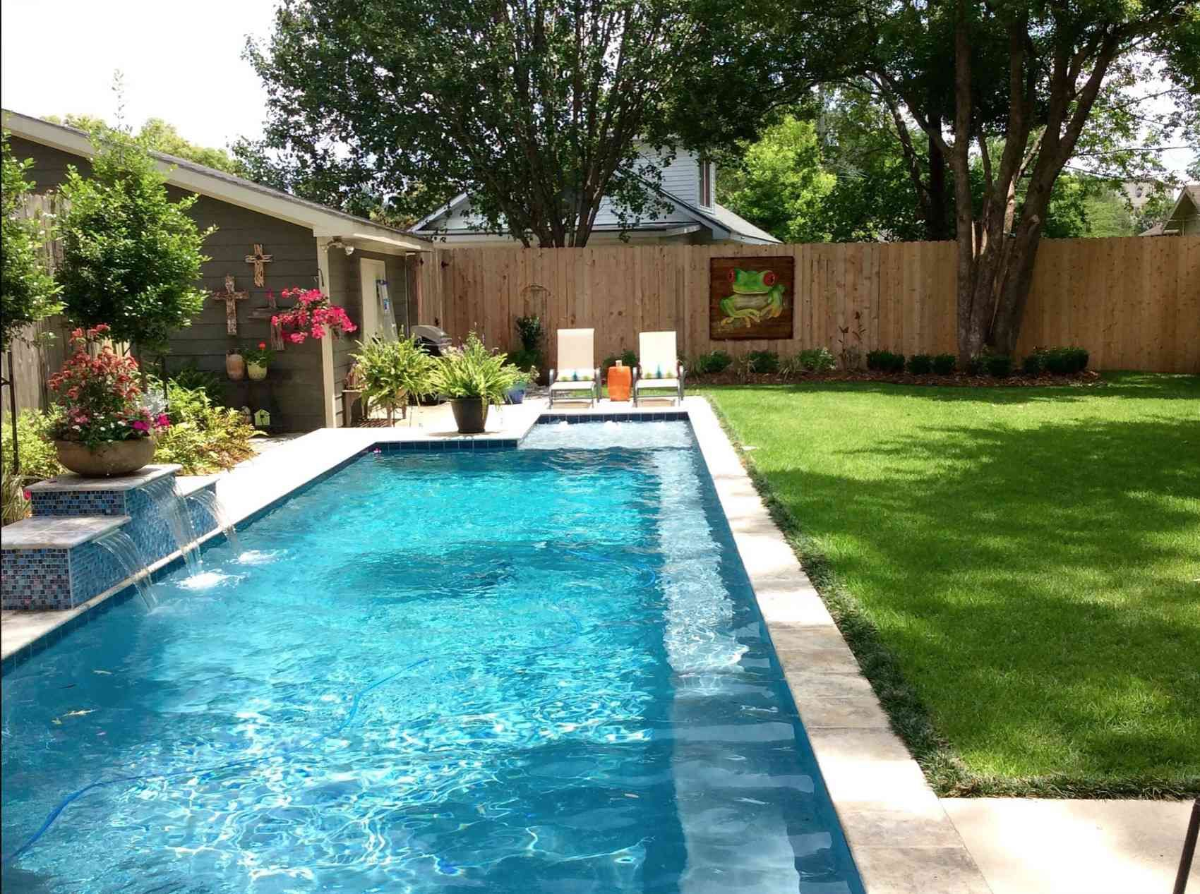 50 Backyard Landscaping Ideas To Inspire You Backyard Pool Landscaping Small Backyard Pools Pool Landscaping