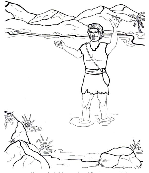 John The Baptist In The River Coloring Page Netart Mermaid Coloring Pages Coloring Pages John The Baptist