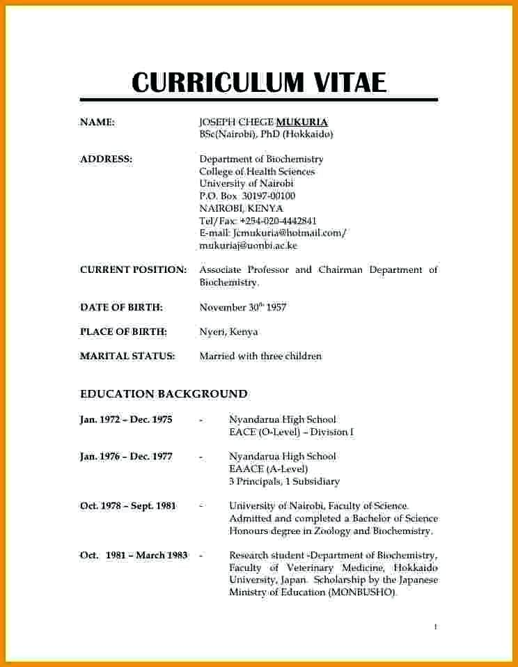 How To S Wiki 88 How To Write A Cv In Kenya