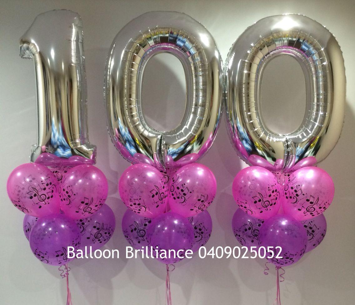 """""""100th Birthday"""" #100 #birthdayballoons #100thbirthday"""
