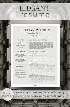 Elegant Resume Design That Organizes Your Information So That It