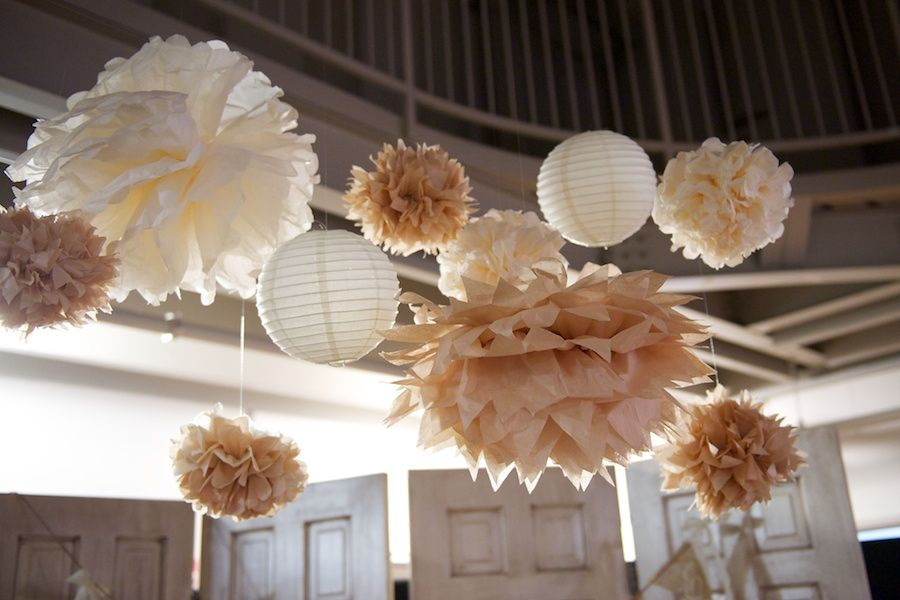 Different Shapes And Sizes Of Paper Decorations For Wedding