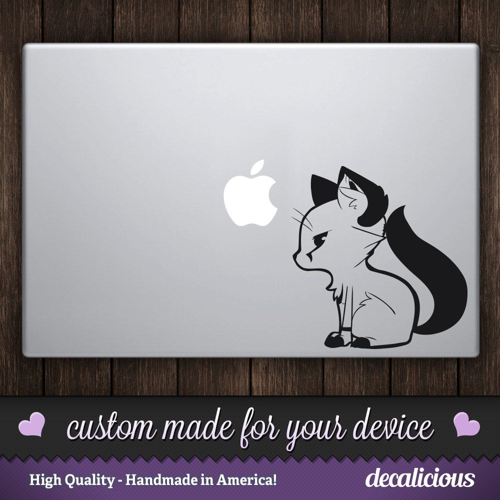 Cute Anime Fox Vinyl Decal Sticker By Decaliciouscom On Etsy - Custom vinyl decals macbook