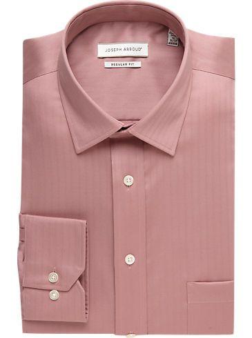 Dress Shirts Joseph Abboud Cameo Pink Herringbone Dress Shirt