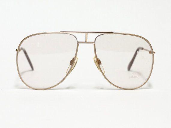 Jaguar vintage eyeglasses - model 327 - 1980s aviator glasses - made in Germany - NOS condition