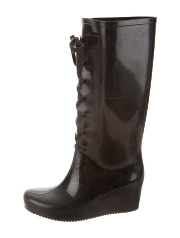 Yves Saint Laurent Wedge Rain Boots