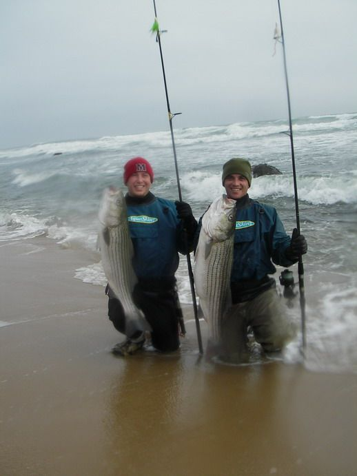 Always great striper fishing in montauk gone fishing for Best surf fishing rods