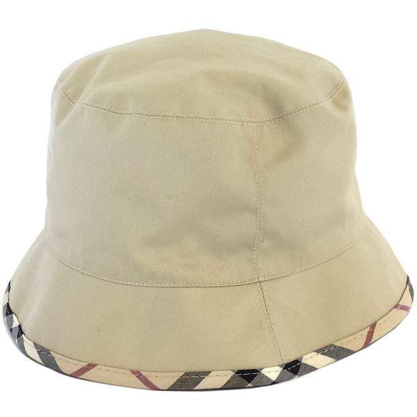 f5f1675500c Pre-owned Burberry Tan   Plaid Trim Bucket Hat (4