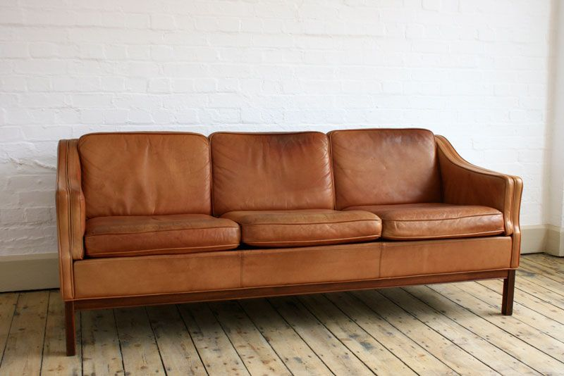 Late 50s Danish Rich Tan Leather Sofa 163 795 Can T Even