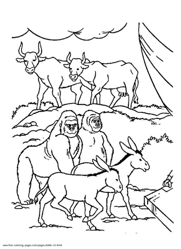 biblical animals coloring pages - photo#15