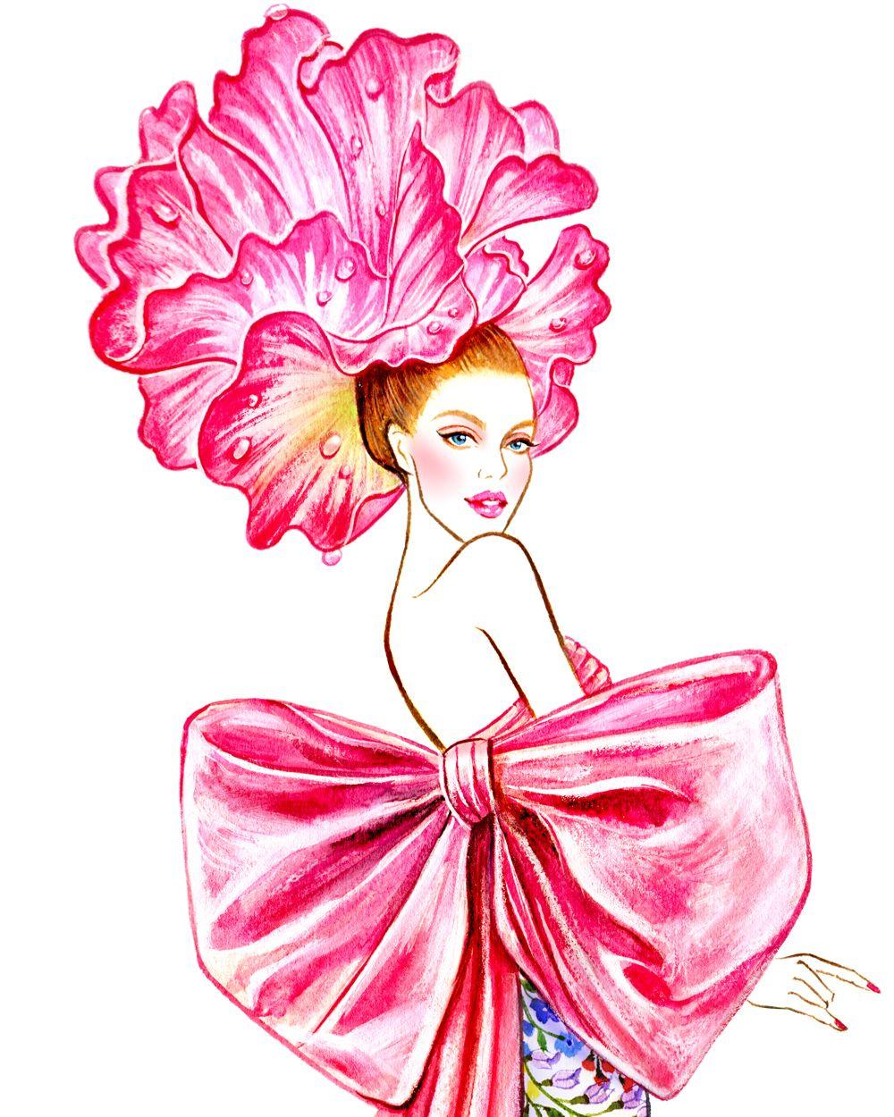 Flower Mood (series) - Sunny Gu - Oscar de la Renta   Illustrations ...