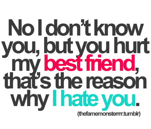Don\'t hurt my best friend. Simple as that. I <3 you, @Carla ...