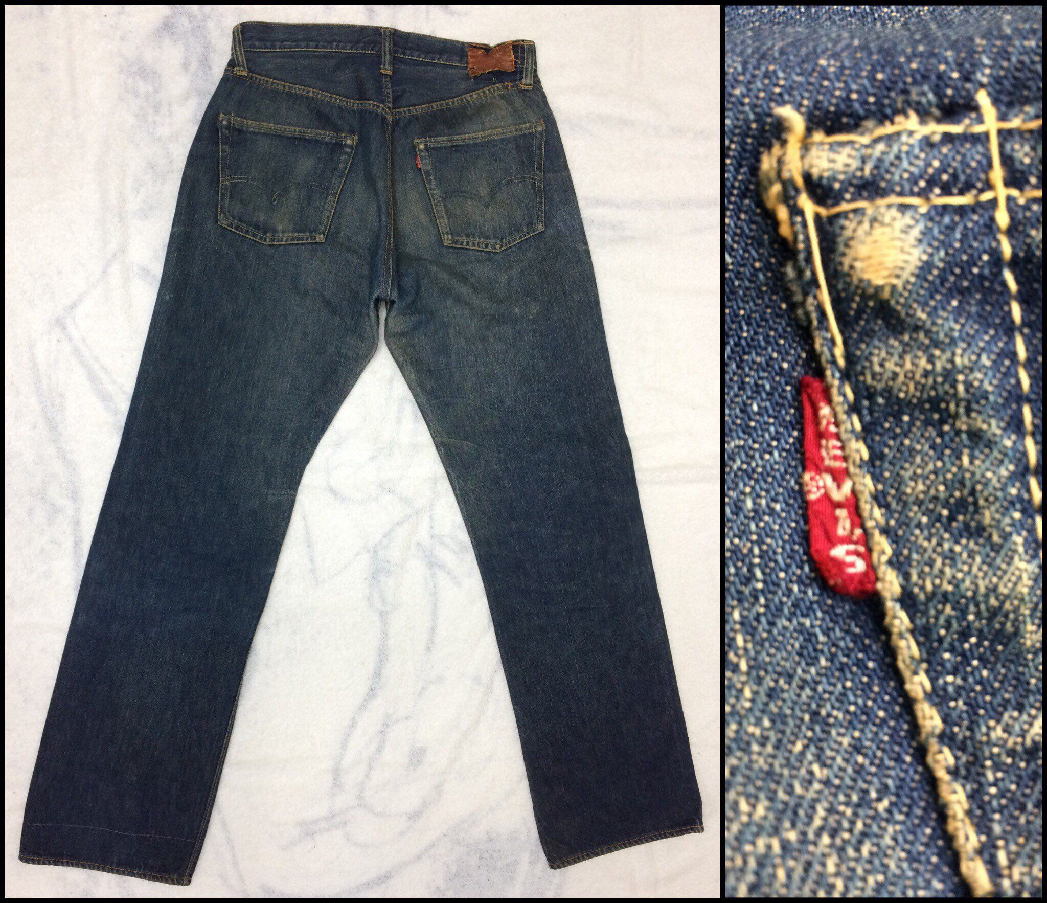60721b03c17 Excited to share the latest addition to my  etsy shop  1950s Levis 501Zxx  big E indigo denim blue jeans 32x32 hidden rivets redline selvedge single  stitch ...