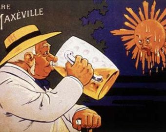 Biere de Maxeville Vintage French Beer Ad Giclee Art Print Mounted Canvas Option