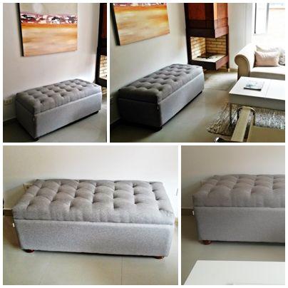Puff Baul Mr Puff Capitone Standard en tela gris | Decoracion DIY ...