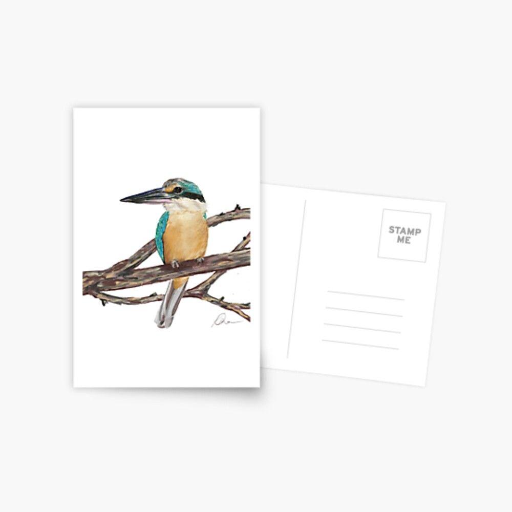 Kingfisher Postcard By Kimberley Oehlman Unique Artwork Postcard Kingfisher