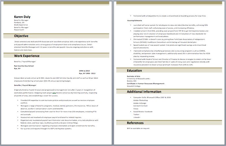 Benefits Manager Resume | Manager Resume Samples | Pinterest