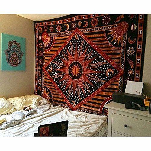 Jaipurhandloom Celestial Sun Moon Planet Bohemian Tapestry