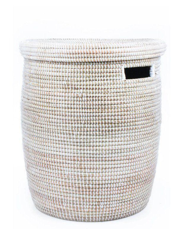 Sweetgrass Woven Laundry Basket Woven Laundry Basket Hamper