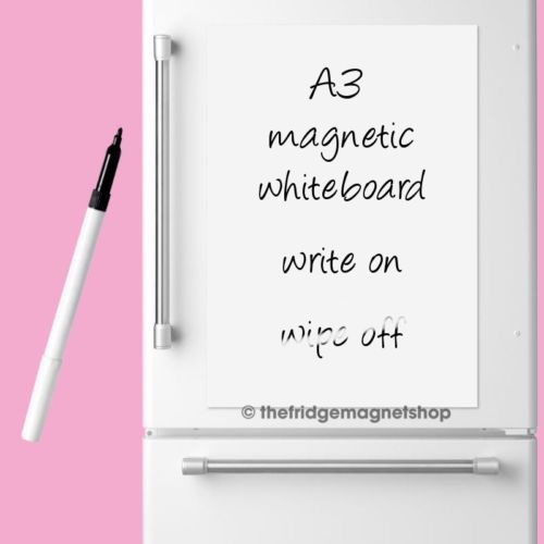 Details about Magnetic Whiteboard Plain A3 Dry Wipe Flexible Memo - blank memo