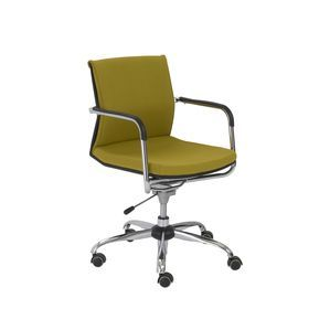 Euro Style Baird Office Chair in Mustard Yellow/Chrome