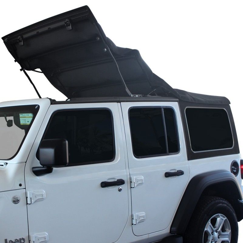 Mopar Sunrider Design Soft Top Kit 4 Door Black Premium Jeep
