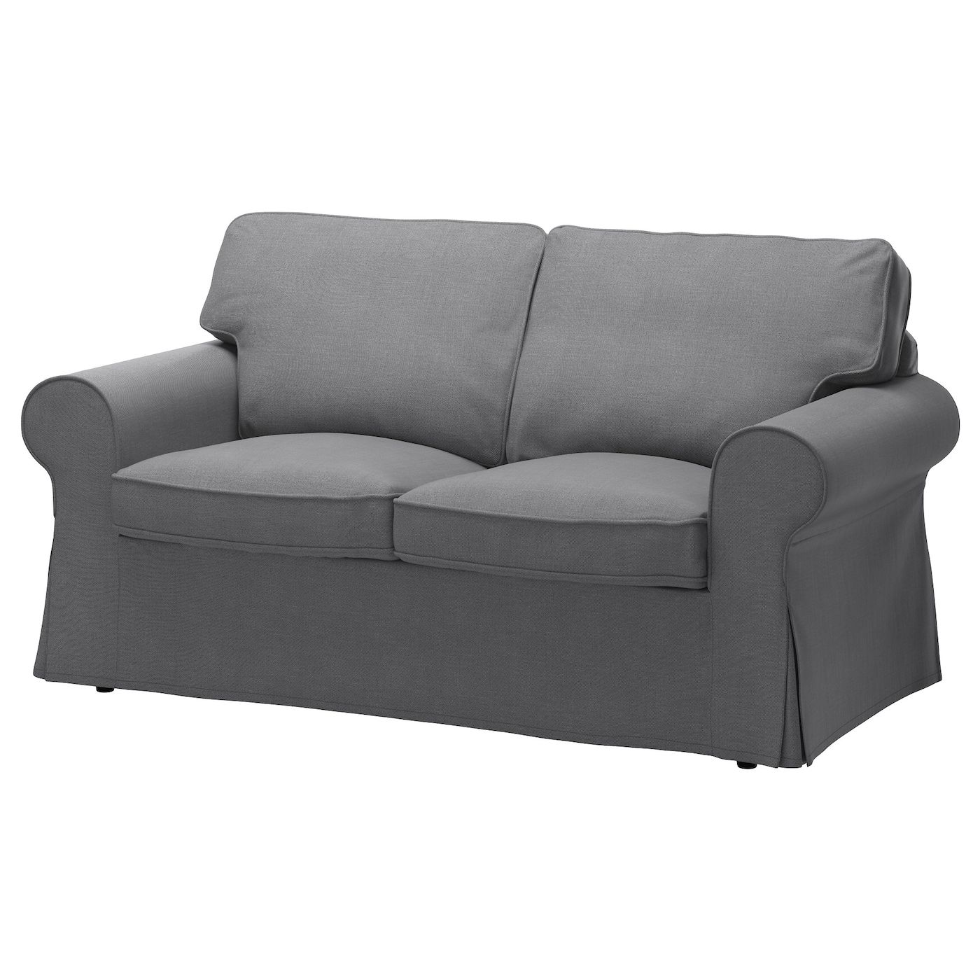 EKTORP Loveseat cover, Nordvalla dark gray is part of Ikea Living Room Ektorp - The cover is easy to keep clean as it is removable and can be machine washed  A range of coordinated covers makes it easy for you to give your furniture a new look
